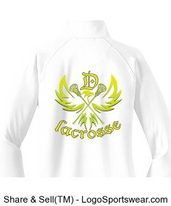 Neon Eagle: Women's white 1/4 zip jacket Design Zoom