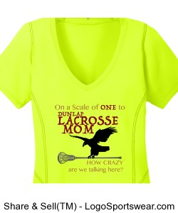 Lacrosse Mom: Wicking t-shirt Design Zoom