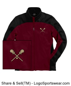 Angry Eagle Jacket with embroidered lacrosse sticks Design Zoom