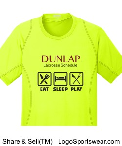 Dunlap Lacrosse Schedule: Wicking t-shirt Design Zoom