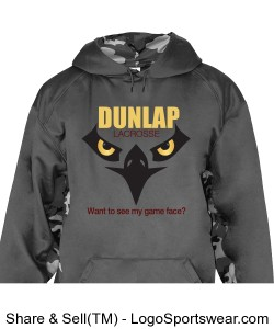 Angry Eagle Game Face: camo sleeve sweatshirt Design Zoom