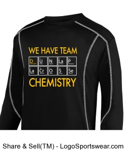 Team Chemistry: black wicking tshirt Design Zoom