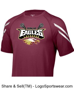 Maroon stripe performance shirt Design Zoom