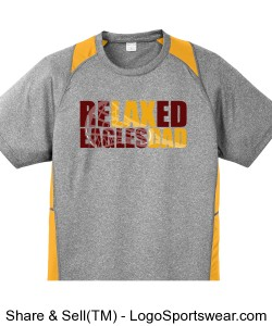 ReLAXed Dad: Grey and gold colorblock t-shirt Design Zoom