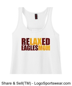 ReLAXed Eagle Mom: White tank Design Zoom