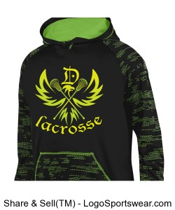 Neon Eagle: Digital Green Sleeve hoody Design Zoom