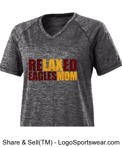 ReLAXed Mom: grey wicking tshirt Design Zoom